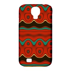 Orange Black and Blue Pattern Samsung Galaxy S4 Classic Hardshell Case (PC+Silicone)
