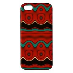 Orange Black And Blue Pattern Iphone 5s/ Se Premium Hardshell Case