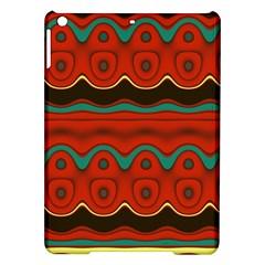 Orange Black and Blue Pattern iPad Air Hardshell Cases