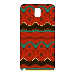 Orange Black and Blue Pattern Samsung Galaxy Note 3 N9005 Hardshell Back Case