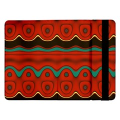 Orange Black and Blue Pattern Samsung Galaxy Tab Pro 12.2  Flip Case