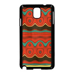 Orange Black and Blue Pattern Samsung Galaxy Note 3 Neo Hardshell Case (Black)