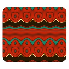Orange Black and Blue Pattern Double Sided Flano Blanket (Small)