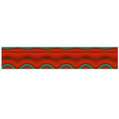 Orange Black and Blue Pattern Flano Scarf (Large)