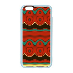 Orange Black and Blue Pattern Apple Seamless iPhone 6/6S Case (Color)