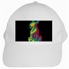 Colorful abstract cat  White Cap