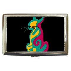 Colorful abstract cat  Cigarette Money Cases