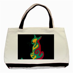 Colorful abstract cat  Basic Tote Bag