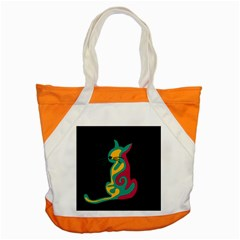 Colorful abstract cat  Accent Tote Bag