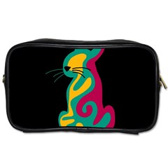 Colorful abstract cat  Toiletries Bags 2-Side