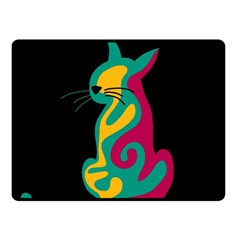 Colorful abstract cat  Fleece Blanket (Small)