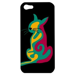 Colorful abstract cat  Apple iPhone 5 Hardshell Case