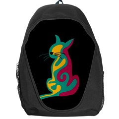 Colorful abstract cat  Backpack Bag