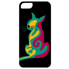 Colorful abstract cat  Apple iPhone 5 Classic Hardshell Case