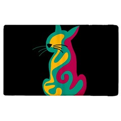 Colorful abstract cat  Apple iPad 2 Flip Case