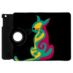 Colorful abstract cat  Apple iPad Mini Flip 360 Case