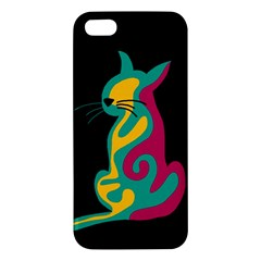 Colorful abstract cat  Apple iPhone 5 Premium Hardshell Case