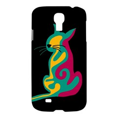 Colorful abstract cat  Samsung Galaxy S4 I9500/I9505 Hardshell Case