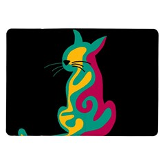 Colorful abstract cat  Samsung Galaxy Tab 10.1  P7500 Flip Case
