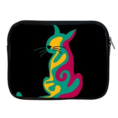 Colorful abstract cat  Apple iPad 2/3/4 Zipper Cases