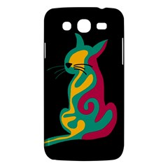Colorful abstract cat  Samsung Galaxy Mega 5.8 I9152 Hardshell Case