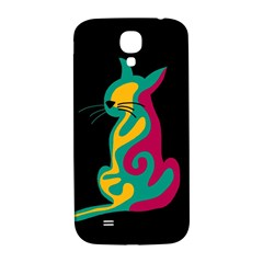 Colorful abstract cat  Samsung Galaxy S4 I9500/I9505  Hardshell Back Case