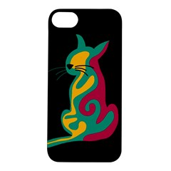 Colorful abstract cat  Apple iPhone 5S/ SE Hardshell Case