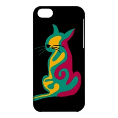 Colorful abstract cat  Apple iPhone 5C Hardshell Case