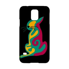 Colorful abstract cat  Samsung Galaxy S5 Hardshell Case