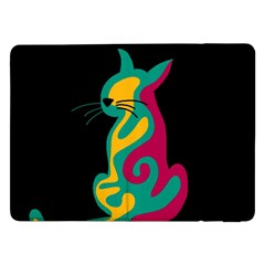 Colorful abstract cat  Samsung Galaxy Tab Pro 12.2  Flip Case