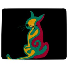 Colorful abstract cat  Jigsaw Puzzle Photo Stand (Rectangular)