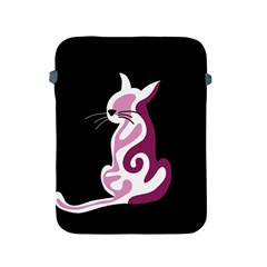 Pink abstract cat Apple iPad 2/3/4 Protective Soft Cases