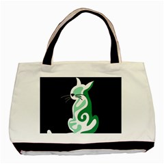 Green abstract cat  Basic Tote Bag (Two Sides)