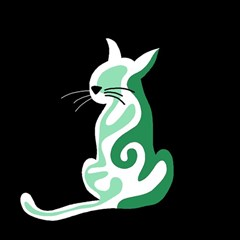 Green abstract cat  Magic Photo Cubes