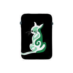 Green abstract cat  Apple iPad Mini Protective Soft Cases