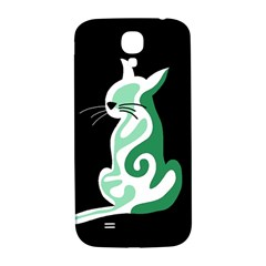Green abstract cat  Samsung Galaxy S4 I9500/I9505  Hardshell Back Case