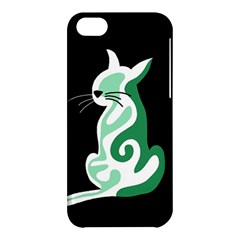 Green abstract cat  Apple iPhone 5C Hardshell Case