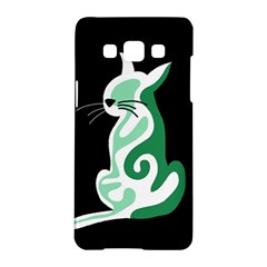 Green abstract cat  Samsung Galaxy A5 Hardshell Case