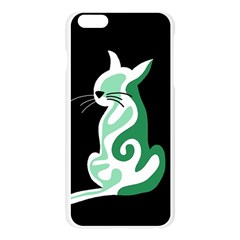 Green abstract cat  Apple Seamless iPhone 6 Plus/6S Plus Case (Transparent)