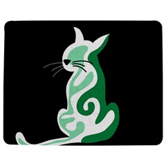 Green abstract cat  Jigsaw Puzzle Photo Stand (Rectangular)