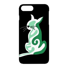 Green abstract cat  Apple iPhone 7 Plus Hardshell Case