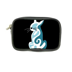Blue abstract cat Coin Purse