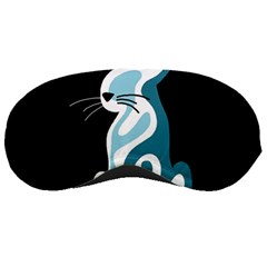 Blue abstract cat Sleeping Masks