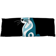 Blue abstract cat Body Pillow Case Dakimakura (Two Sides)