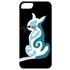 Blue abstract cat Apple iPhone 5 Classic Hardshell Case