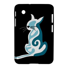 Blue abstract cat Samsung Galaxy Tab 2 (7 ) P3100 Hardshell Case