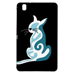 Blue abstract cat Samsung Galaxy Tab Pro 8.4 Hardshell Case