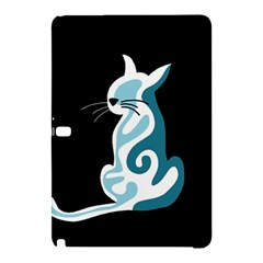 Blue abstract cat Samsung Galaxy Tab Pro 12.2 Hardshell Case