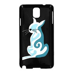 Blue abstract cat Samsung Galaxy Note 3 Neo Hardshell Case (Black)