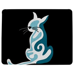 Blue abstract cat Jigsaw Puzzle Photo Stand (Rectangular)
